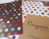 Origami Paper - Dots - Folding Instructions ( 20 sheets total - 10 in white , 10 in black )