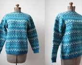 Inverno Cabril Hand Knit Sweater • 1970's Hand Knit Portuguese Sweater • Argolan Folkloric Sweater