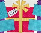 Scrapbooking Layout Kit Happy Birthday 12x12