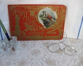 Victorian BLANK Autograph Album...Wedding Guest Book...Unused...Blank Pages...Statue of Liberty