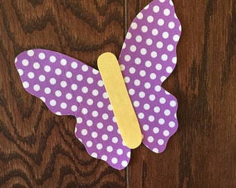 Butterfly Iron On Applique, You Choose Fabric