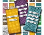 1x2 Domino Collage Sheets Polka-Dot Onslaught Scrabble Tile Digital Collage Sheet Images Rectangles Dominos Words Sayings