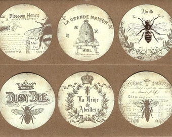 Stickers - French Bee Stickers - Abeille Stickers