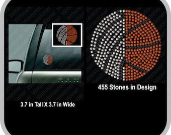 Volleyball and  Basketball Rhinestone Car Decal