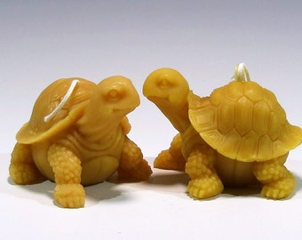 Beeswax Turtle Candles Beeswax Turtles Painted Turtles Box Turtles Honey Scented Handcrafted Candles