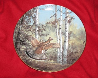 "Limited edition plate by David Maas, ""Hasty Departure"""