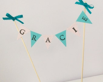 Custom Cake Banner , Cake Bunting  - Weddings, Showers , Birthdays, Engagements