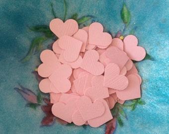 200 Pink Confetti Hearts, Custom Wedding Confetti Baby & Bridal Shower, Table decor