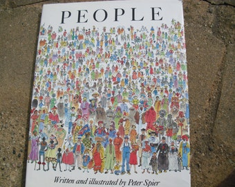 Vintage Book People Written and Illustrated by Peter Spier