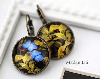 Spring flowers Bronze Earrings