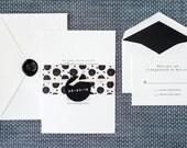 Polka Dot Wedding Invitation, Simple Wedding Invitation, Beach Wedding Invitation, Rustic Wedding Invitation, Neutral Wedding Invitation