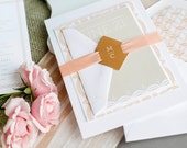 Romantic Wedding Invitation, Pink and Gold Wedding Invitation, Peach Wedding Invitation, Pink Wedding Invitation, Pretty Wedding Invitation
