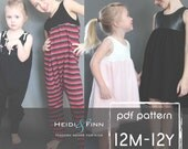 Sugar n Spice dress and romper pattern and tutorial PDF 12m-12y  tunic dress jumper playsuit easy sew