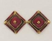 50% Off Artisan Oxidized Copper Clip Back 80s Earrings Vtg Jewelry