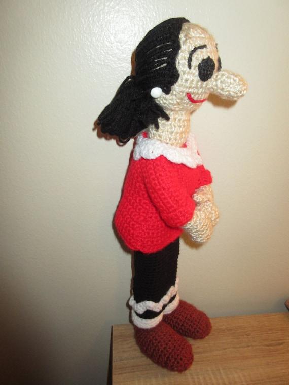 Crochet Pattern Popeye Doll : Olive Oyl Doll Crochet Pattern PDF Instant Download from ...