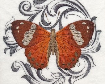 HARLEQUIN METALMARK - Machine Embroidered Quilt Block (AzEB)