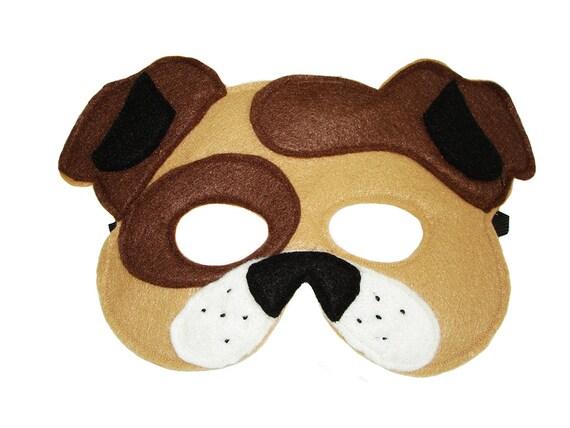 Children 39 s brown dog felt mask for Dog mask template for kids