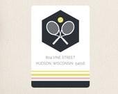 Tennis Address Mailing Labels