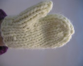 Hand Knit Doll Clothes Accessories Mittens 8 color choice variations fits doll such as 18 inch American Girl 6