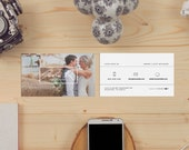 John minimal double sided photography business card - Instant download