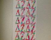 Delta zeta vinyl Greek letter decals