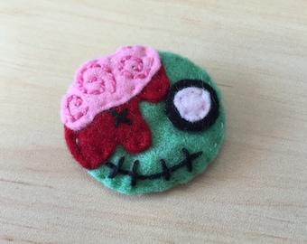 Happy Zombie Felt Badge