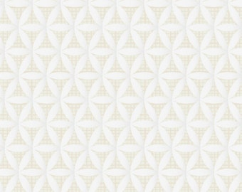 SALE - Camelot Fabrics - Heavy Metal Collection - Lattice in Metallic Silver