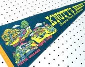 Vintage Knott's Berry Farm Souvenir Felt Pennant (1960s)