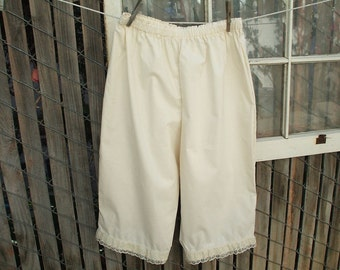 Womens Pantaloons XLarge NATURAL Cotton Bloomers Renaissance Ready to Wear