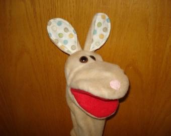 Rabbit Bunny hand Puppet tan