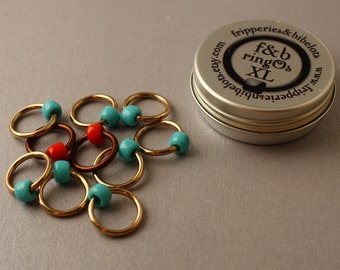 ringOs XL Robin's Nest - Snag-Free Ring Stitch Markers for Knitting