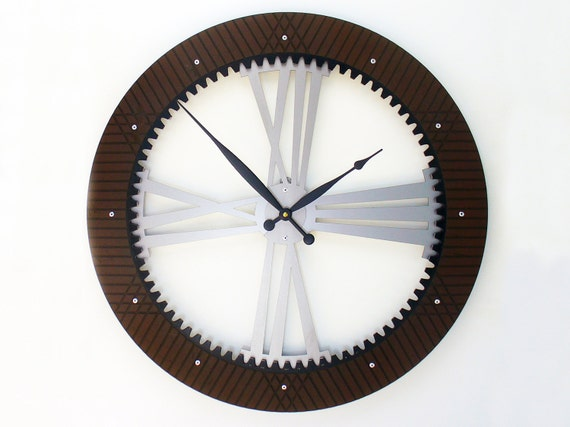 Drive Shaft I Modern Wall Clock Extra Large By All15designs