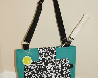 Medium size tennis bag made from waterproof material.Made to Order !