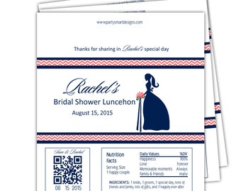 Bridal Shower candy wrappers/Candy Wrappers/Hershey Candy Bar Wrappers/Shower Wrappers/Chocolate Bar Wrappers