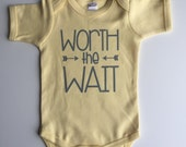 Worth The Wait Bodysuit - Available in various colors and Sizes