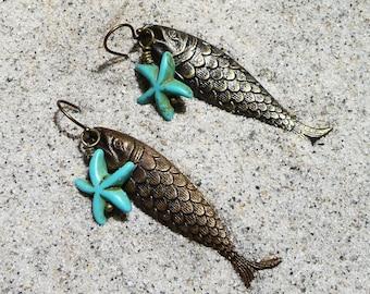 Florida Tropical Fish Beach Earrings on Etsy by APURPLEPALM