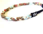 Fashion Headband, Faith and Fit Scrappy Band in Blue Floral