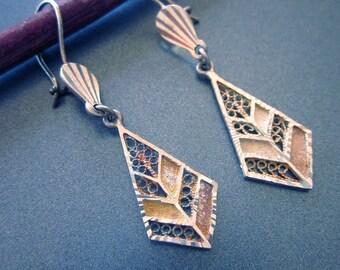 Sterling Silver Vintage Dangle Earrings Turkey