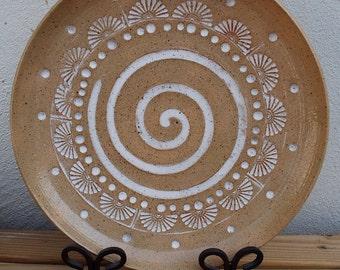 SALE Wedding Gift, Neutral, White, Ivory, Cream, Engagement Gift, Anniversary Gift, Couples Gift, Platter, Ceramic Tray, Handmade bigdogpots