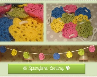 Made to order - Crochet Flowers Bunting.