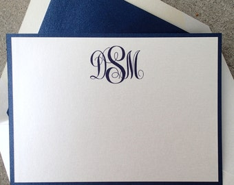 Monogram Note Cards/ Thank you Notes