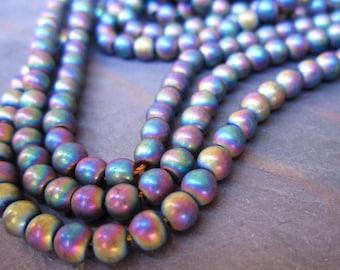 Metallic Envy Mix Agate 4mm Beads