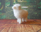 Needle Felted Small White Primitive Sheep