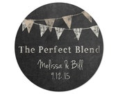 Personalized Wedding Stickers - Perfect Mix - Perfect Blend - Chalkboard Stickers - Favor Stickers - Casual Wedding - Pennant Stickers