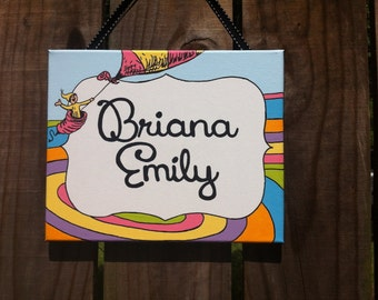 Dr. Seuss, Oh The Places You'll Go, name sign, bedroom door sign, personalized, teacher sign, nursery
