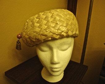 Sweet Vintage Straw Beret Style Hat