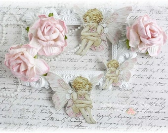 Full of Wonder Fairy Die Cut Embellishments Pink Dress for Scrapbooking, Cardmaking, Mixed Media, Altered Art