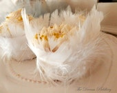 ON SALE! Swan Lake Feathers. Six Fluffy White Feathered Cupcake Wrappers