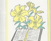 Lilies and Bible