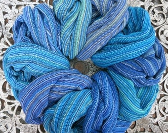 4 Headwraps Australian Blues: Aqua Ocean Deep Sky Headbands cotton